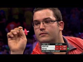 Wes Newton vs Cristo Reyes (PDC World Darts Championship 2015 / Round 1)
