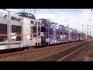 Mixed Freight Trains meet at Cologne Gremberg Germany 28 9 2014