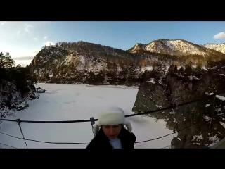 Горный Алтай зимой Манжерок снегоходы и сноуборды Новогодние каникулы на Алтае Mountain Altai   Маршрут и Отдых