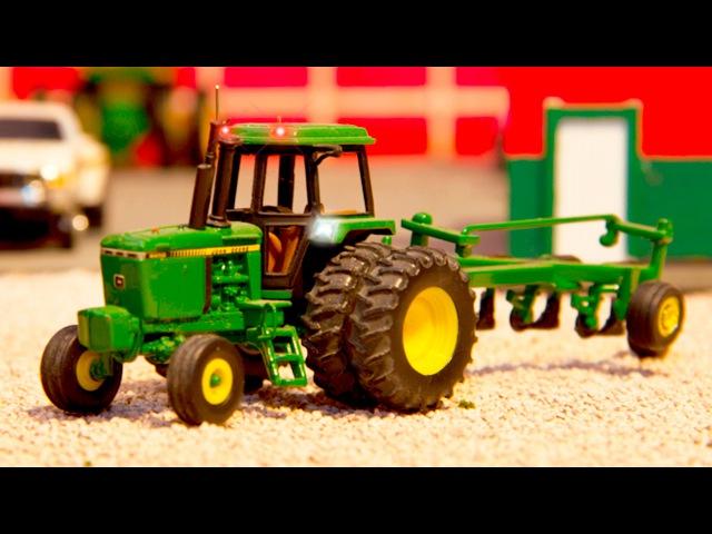 Traktor Prace Na Farmie Zabawki dla dzieci Bajka po polsku