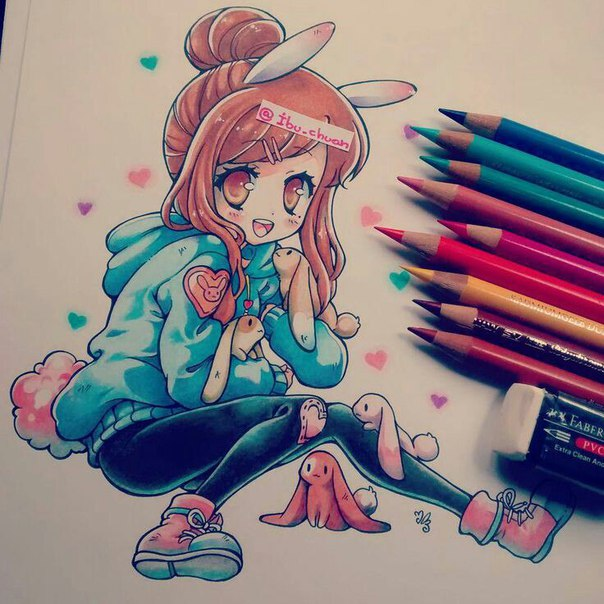 drawing ideas anime - 736×736
