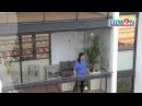 Балкон с безрамным остеклением Lumon