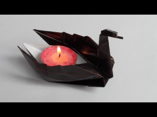 (Jannie van Schuylenburg), Floating beautiful origami swan
