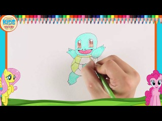 Pokemon Drawings: How to draw Pokemon Squirtle | Cool Pokemon Drawings