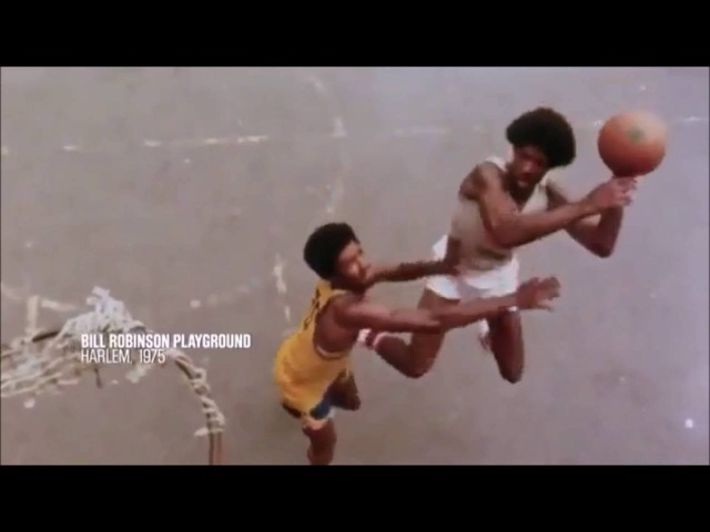 Julius Erving Dr J at Bill Robinson Park Harlem 1975 video Streetball RARE FOOTAGE