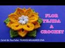 Te encantarán estas lindas flores tejidas a crochet en diferentes colores con hojitas