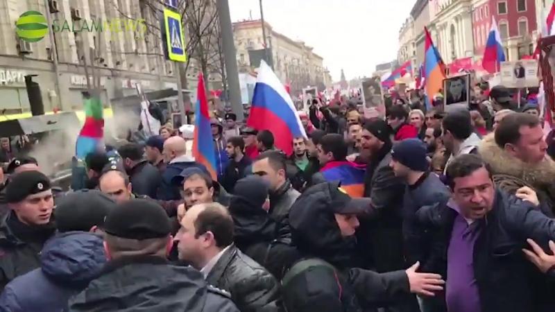 Moskvada ermənilərlə azərbaycanlılar arasında dava düşüb
