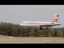 Посадка Ил-62 германской авиакомпании Interflug в поле