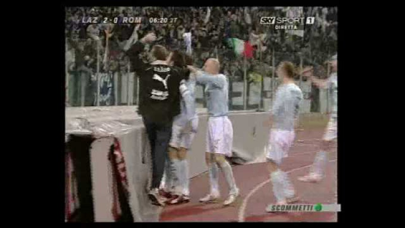 Lazio - Roma 3-0 2006-07 commento Guido