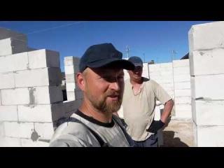 Строительство дома из газосиликатных блоков-3: Подготовка к перекрытию дверных  ...