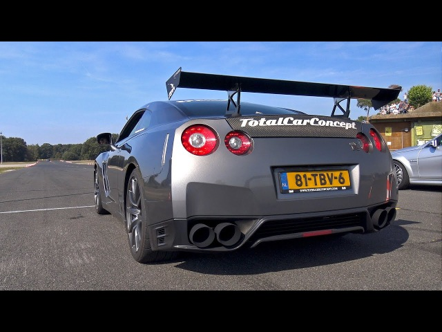 Nissan GT R R35 Switzer P800 w Armytrix Exhaust DRAG RACING