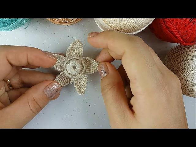 Aprenda Fazer Flor Em Crochê Irlandês! MK Natalia Kotelnikova