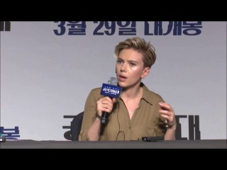 Scarlett Johansson - Ghost In The Shell Seoul Press Conference (2017)