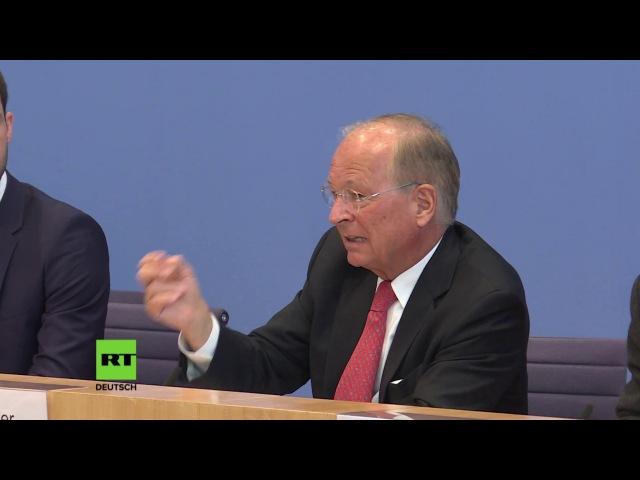 Wolfgang Ischinger auf Bundespressekonferenz Ukrainische Sicherheit ohne Provokation Moskaus