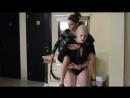 Lia piggyback riding exellent ponygirl Carola iv iv