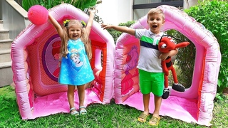 Roma Diana and Mom Pretend Play with Toys and Playhouse for kids, Funny children's videos