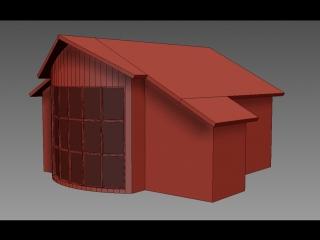 Моделирование дома в 3ds Max  + черепица скриптом ATiles.
