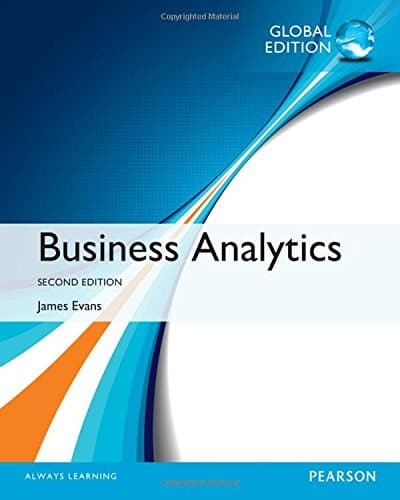 Business Analytics 2nd Global Edition by James R Evans