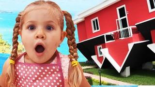 Рома и Диана в Перевернутом Доме для детей Upside Down house for kids