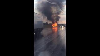 Авария на трассе. В BMW сгорели саратовский депутат и его жена