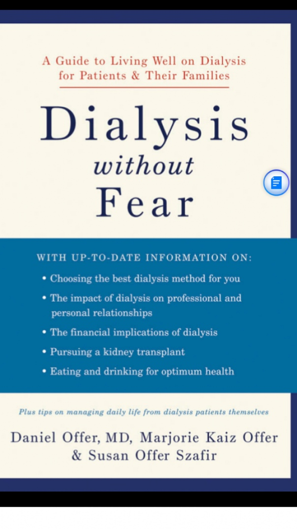 Book cover dialysis without fear