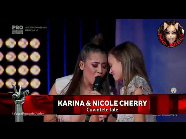 Vocea Romaniei Junior - Finals (Karina Nicole Cherry - Cuvintele Tale)