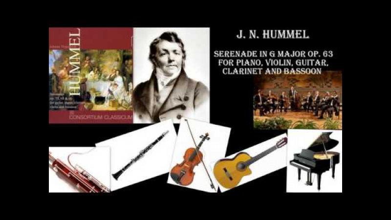 J N Hummel Serenade in G Major Op 63 Consortium Classicum