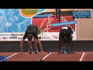 Christophe Lemaitre runs 6 58 WL in head to head wDwain Chambers over 60m