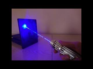 Мощный лазер VS Коробки из под DVD дисков!!!