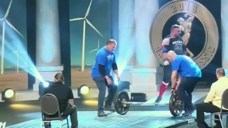 Матиаш Белшак (Словения), ось Аполлона - 181 кг (гриф не вращается), АК - 2018💪