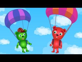 Mega Gummy Bear And Magic Baloon Finger Family Nursery Rhymes for kids Toys Fun