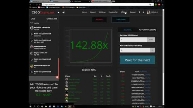 Новый сайт с халявой csgocasino.net code LIFESTYLE Рефералку обновили