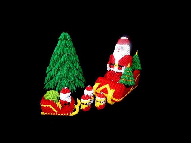 3D Origami Santa Claus tutorial part1 DIY paper Santa Claus 1