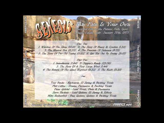 Genesis - 19730120 - Live in Reggio Emillia, Italy {Full Concert}