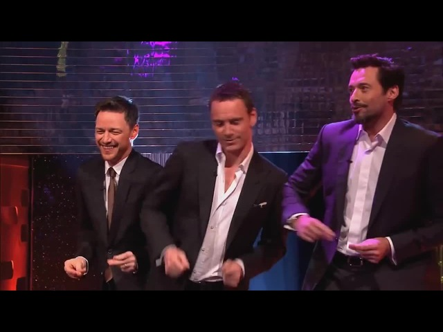 Michael Fassbender, Hugh Jackman James McAvoy Dance to Blurred Lines - The Graham Norton Show · coub, коуб