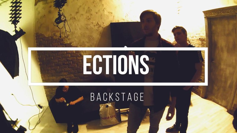 ECTIONS Making promo photos backstage