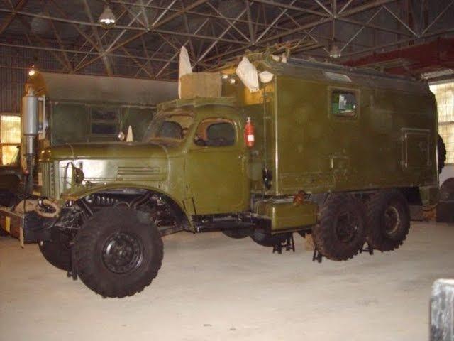 Боевая техника связи на складе хранения/Military communication equipment in the warehouse storage