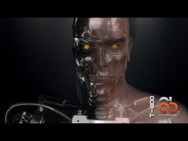 3D Model Terminator T-800 CG - Exterminador do Futuro