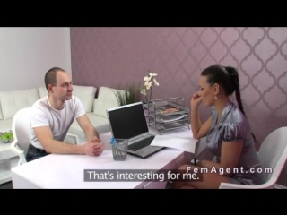 Dude has casting with female agent for a porn actor