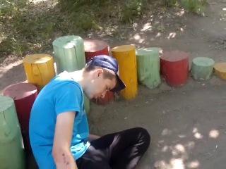 "Малолетка под ""чем-то"" на ул. Энтузиастов в Омске ()"