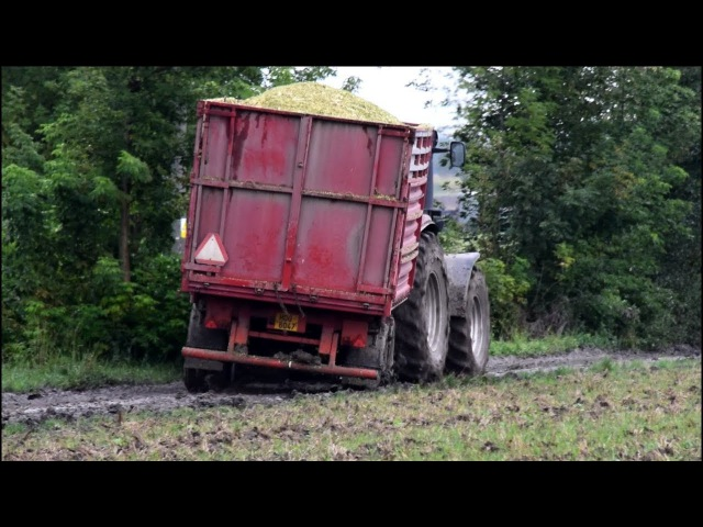 Mokré siláže 2017 Manipulátor v náhonu Harvest in mud