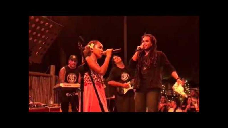 Hello Reggae Cover Live Conkarah and 12yr old Reeana Aviu