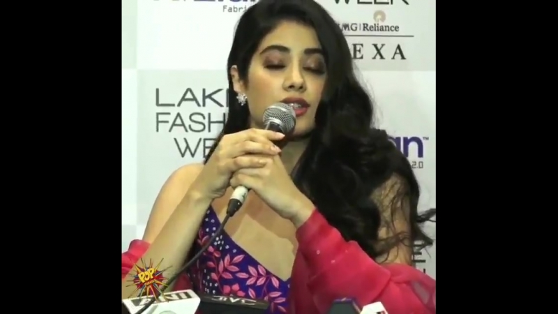 JanhviKapoor talks about walking the ramp and much more. @nachiketbarve @LakmeFashionWk - - LFW LakmeFashionWeek LakmeFashionWee