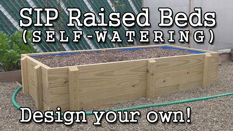 Self watering SIP Sub irrigated Raised Bed Construction How to Build