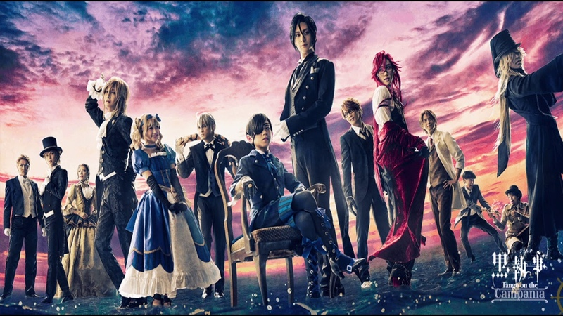 10 Uchikawa as Ciel Furukawa Y as Sebastian Uehara as Grell Mikata Ryosuke as Ronald and Izumi Shuuhei as Undertake