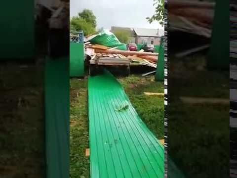 Ураган в Киргиз-Мияках 27.06.2018