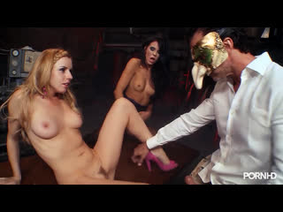 Lexi Belle and Megan Coxxx in high heels gets fucked sharing big dick and sperm. Stockings, Threesome, Licking, Blonde, Brunette