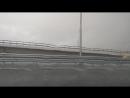 Ливень не давал проехать по Крымскому мосту днем 16.07.2018.