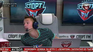 Виталий Денисов, футболист Локомотива, в гостях на Спорт FM