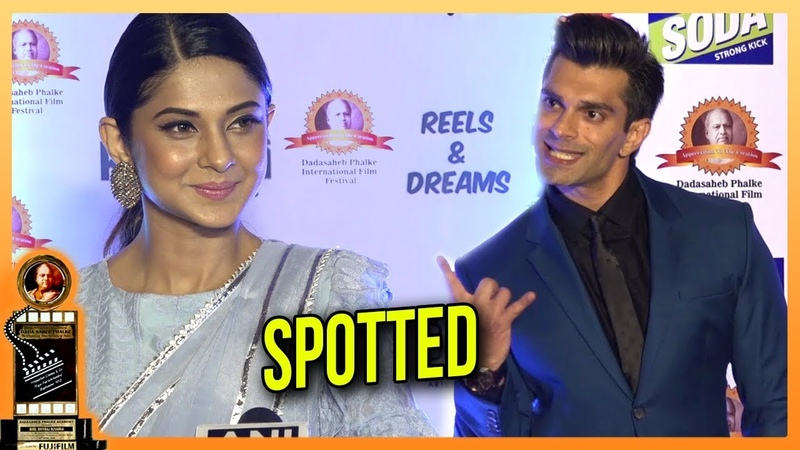 Ex-Flames Jennifer Winget And Karan Singh Grover SPOTTED At Dadasaheb Phalke Awards 2018
